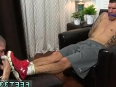 Guy sucking another guys toes and fucking them and foot worship boy move