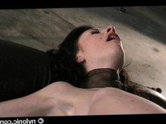 BDSM @ NYLONIC: VALERIAS NYLON TORTURE IN THE DUNGEON