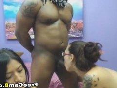 MILF Teen and Black Bull Threesome