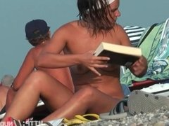 A thrilling nude beach voyeur spy cam video