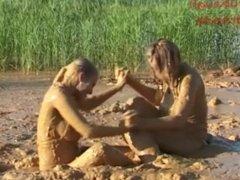 Mud Wrestling Iveta vs. Marketa