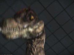 Girl fucked by dinosaur