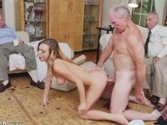 Old muscle daddy and brutal hairy fuck old granny and old man fuck in