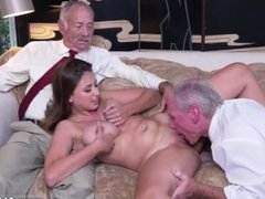 Young student old teacher and old grandpa creampie and old man cums in