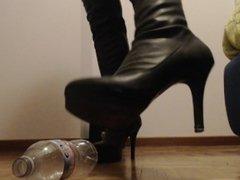 I crush you like a worm beneath my black leather boots.