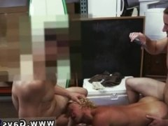 Straight guy has sex with fat old man and gay eating straight shit and