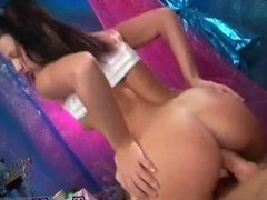 Kleio blowjob and thats a lot of cum and big tit brunette lesbian strapon
