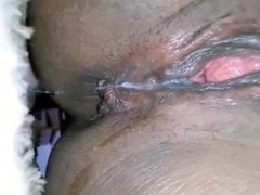 Black Pussy Dripping juices