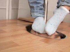 German girl socks smell