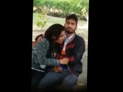 hot indian girlfriend giving bj to her bf in public