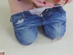 Teen used by men and teen ripped jeans and teen loves sucking and teen