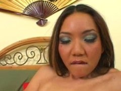 Cute asian fucked by big white cock
