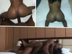 Passionate sex with a petite ebony goddess