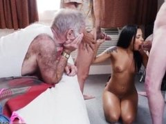 Classy euro old man and old mom fuck young and old man fuck young girl in