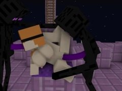 Minecraft Endermen and Alex Threesome