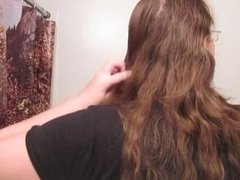 Hair Journal: Combing Long Curly Strawberry Blonde Hair - Week 5 (ASMR)
