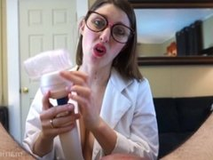 Blowjob Experiment with Hitachi Sleeve Attachment