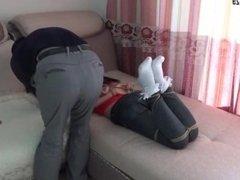 Japanese Hogtied in Socks (2)