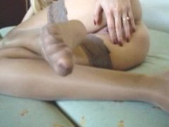 Anita teasing with her feet and pussy - fetish 3