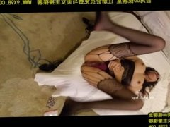 Chinese chick got fucked hard in fishnet stockings