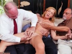 Old grandpa cums inside pussy and japanese old young kissing and old