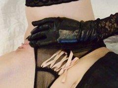 Hot wife dildo fucks herself, Masturbating Watching Porn (My new sex toy)
