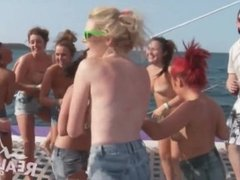 Real teens at yacht party