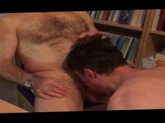 hairy daddy blowjob
