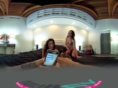 VRHush - Two hot chicks for one big hard dick