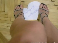 beutiful sandals from above nice feet