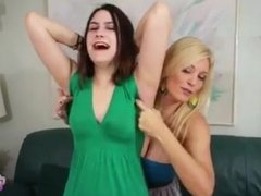 Addie and Charlee armpit tickle 2