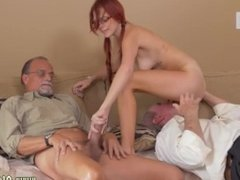 Lela star old and old shows young lesbian and girl licks old mans ass and