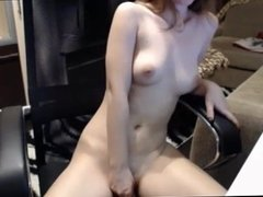 masturbating in a chair