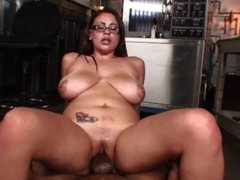 Big tits latina MILF craves her neighbor's thick black dick