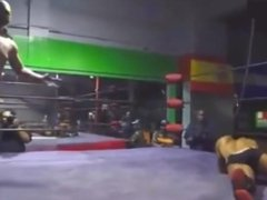 Stud Ricochet takes a beating but finally tops Smiley in this Pro Wrestling