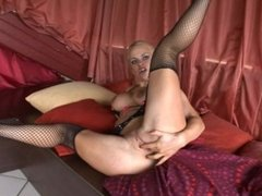 Big tit blonde beauty gets drilled in her tight ass