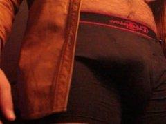 Don Stone In Beige Leather Jacket Masturbating Angle 4