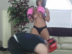 Rapture beats guys balls in a boxing match