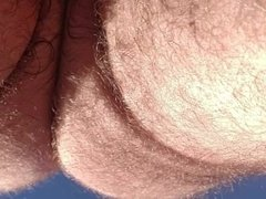 Hot Interracial Couple Outdoor POV (from below) Doggie Style