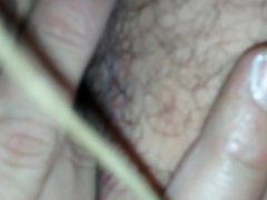 Solo male jerking off and fingering asshole
