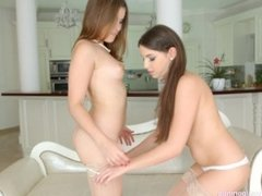 Morning Chill - lesbian scene with Evalina Darling and Diana Dolce by Sapph