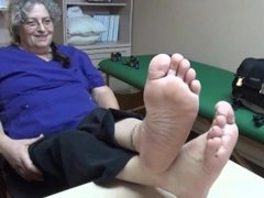 Beautiful BBW Granny Soles