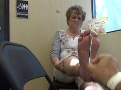 Blonde Granny Retired Feet Soles
