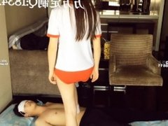 asian foot worship-chinese college goddess