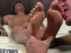 Emo feet licking videos and gay love sex feet and foot fetish boy smooth