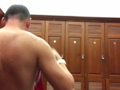 Naked in locker room