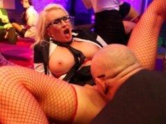 Glamour pornstars fucking in the club