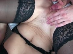Blonde German Mother In black stockings gets fucked secret