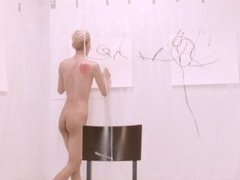 PAINTING AND NAKED TEEN
