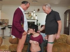 Old men getting dick sucked by younger men and old men with really big